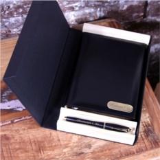 Набор: кожаный ежедневник и ручка Parker с гравировкой