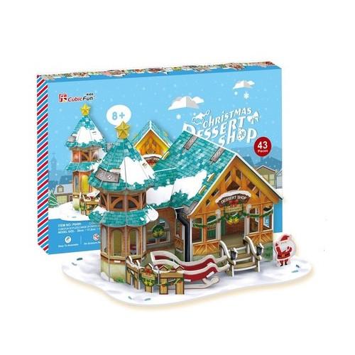 Пазлы Cubic Fun Рождественский домик 3 (с подсветкой)