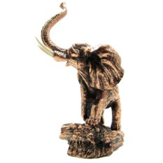 Статуэтка из искусственного камня Слон с поднятым хоботом