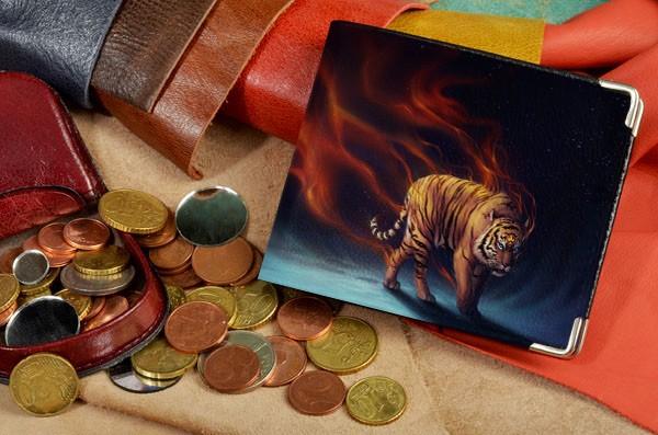 Портмоне с принтом Огненный тигр