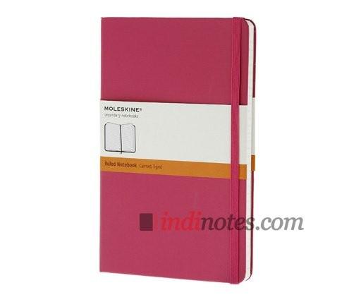 Розовая записная книжка в линейку Classic