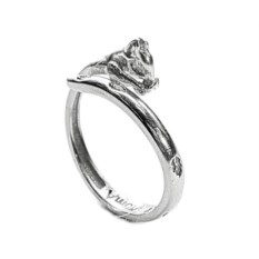 Кольцо-тотем Белка из серебра 925