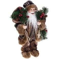 Новогоднее украшение Дедушка Мороз с лыжами