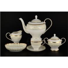Фарфоровый чайный сервиз на 12 персон Ноктюрн