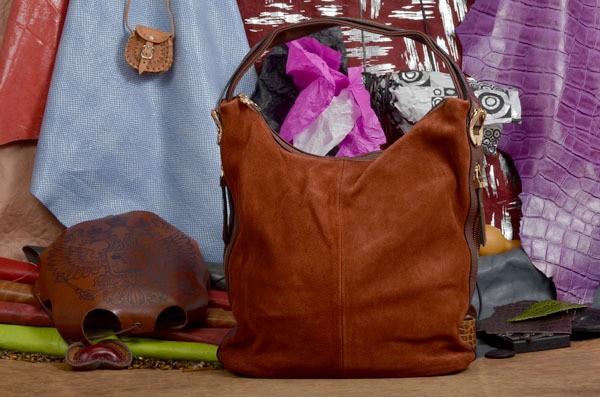 Коричневая замшевая сумка Лора коллекции Eclat