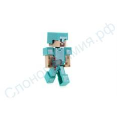 Фигурка Стив в алмазной броне из Майнкрафт