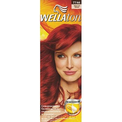 Крем-краска для волос Wellaton 77/44. Красный вулкан