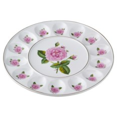 Блюдо для яиц с розами Porcelain Manufacturing