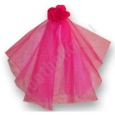 Фата для девичника Цветок (цвет — розовый)
