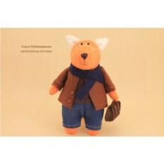 Авторская игрушка «Лис с любимым портфелем»