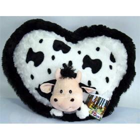 Подушка сердце с бычком da di doo