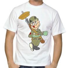 Мужская футболка Довольный солдат