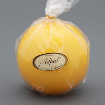 Свеча-шар лакированная желтая