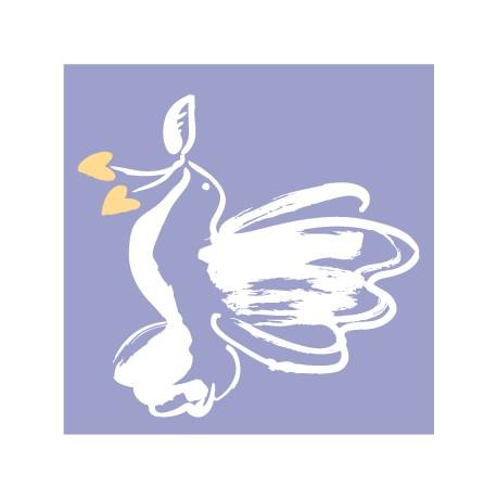 Мини-открытка с голубем С днем свадьбы