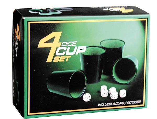Игра Кости (4 стаканчика, 6 кубиков)