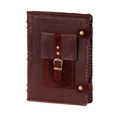 Кожаный ежедневник формата А5 с карманом