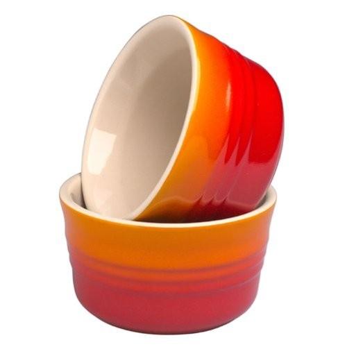 Набор из 2-х горшочков 0,15 л, оранжевый, керамика