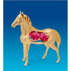 Фигурка Лошадь с цветным кристаллом