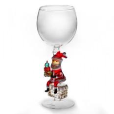 Бокал для вина Дед Мороз на трубе