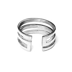 Кольцо Лабиринт из серебра 925