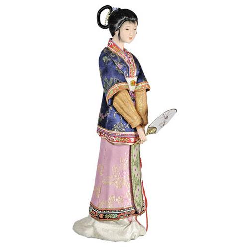 Кукла «Китаянка с веером в синем»