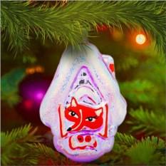 Елочная игрушка «Домик с лисичкой»