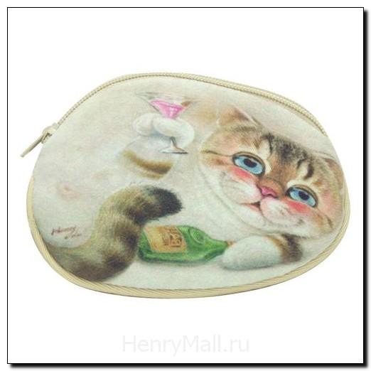 Кошелек женский кот Брэнди