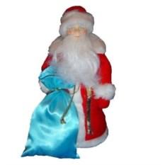 Игрушка Дед Мороз с голубым мешком