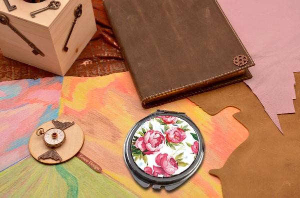 Карманное зеркальце Розы