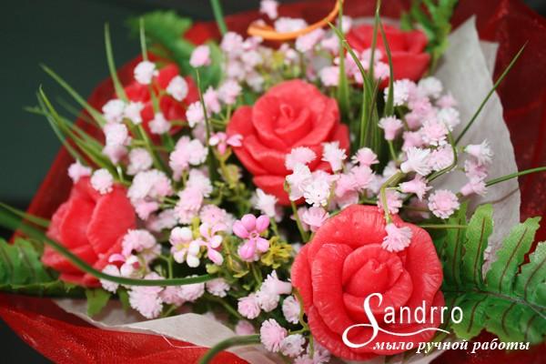 Букет цветов из мыла Розы