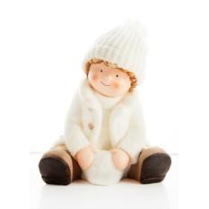 Новогодний сувенир Малыш со снежком