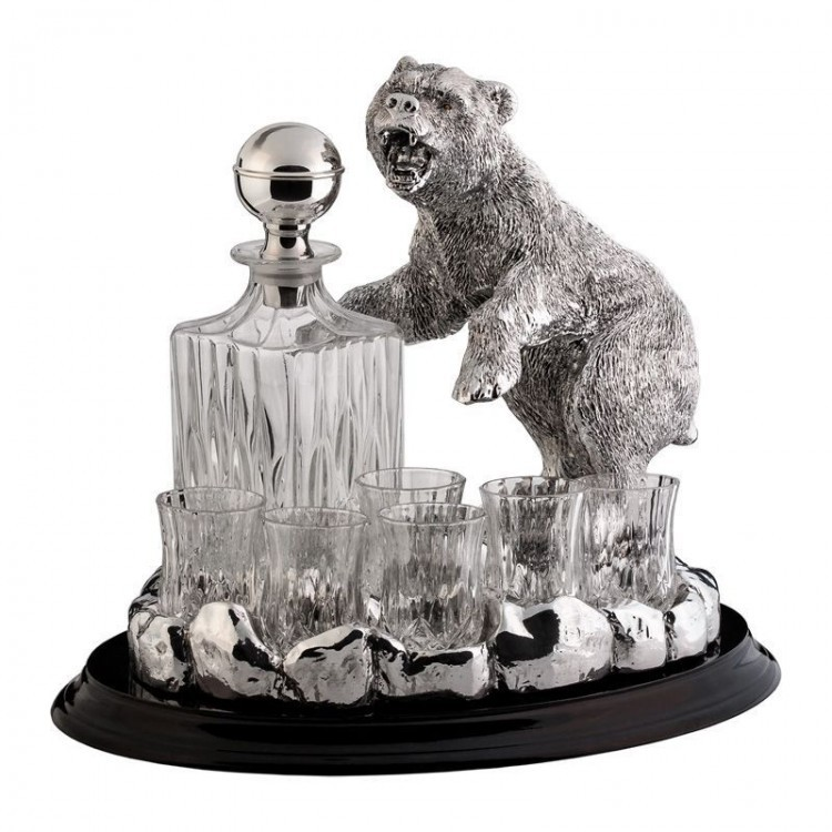 Набор для водки на 6 персон Медведь