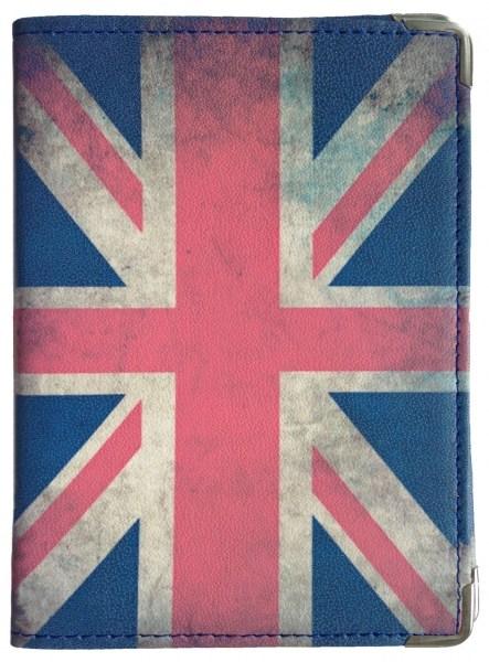 Кожаная обложка для паспорта Британский флаг