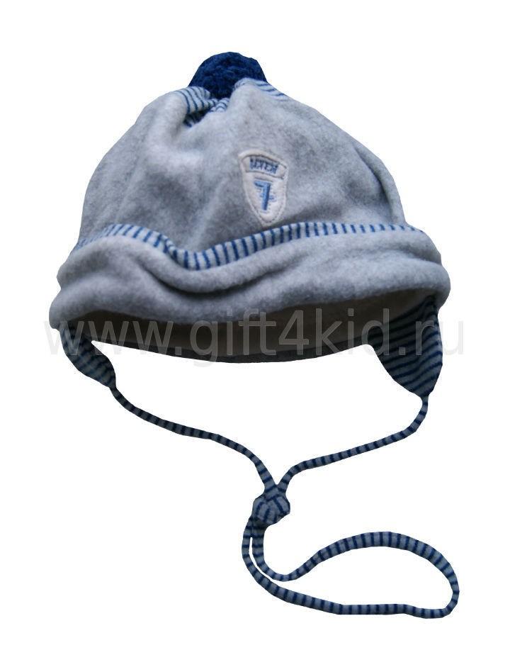 Велюровая шапочка для мальчика