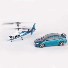 Игровой набор на радиоуправлении Вертолет и машина