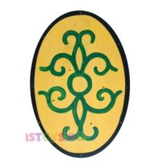 Деревянный овальный щит варвара