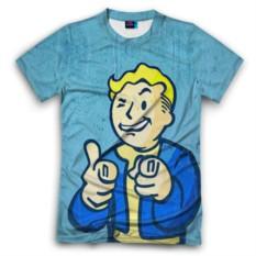 Мужская футболка 3D с полной запечаткой Fallout