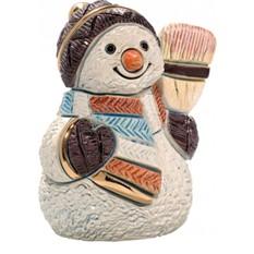 Скульптура Снеговик с метлой