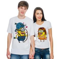 Парные футболки Влюбленные миньоны