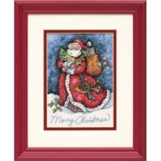 Набор для вышивания Счастливого рождества, Санта!