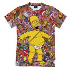 Мужская футболка 3D с полной запечаткой Гомер
