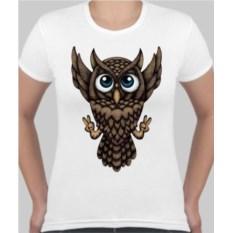 Женская футболка Летящий филин