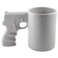 Белая кружка Пистолет