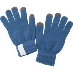 Синие сенсорные перчатки Scroll