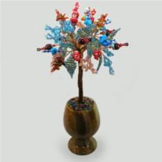 Цветное дерево из камней-самоцветов