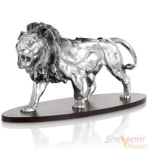 Скульптура Лев на подставке