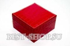 Шкатулка красная квадратная