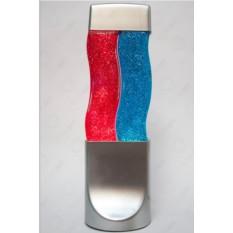 Лава-лампа Wave (цвет — красный, синий с блестками)