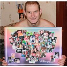 Фотоколлаж на холсте в подарок (в форме сердца)