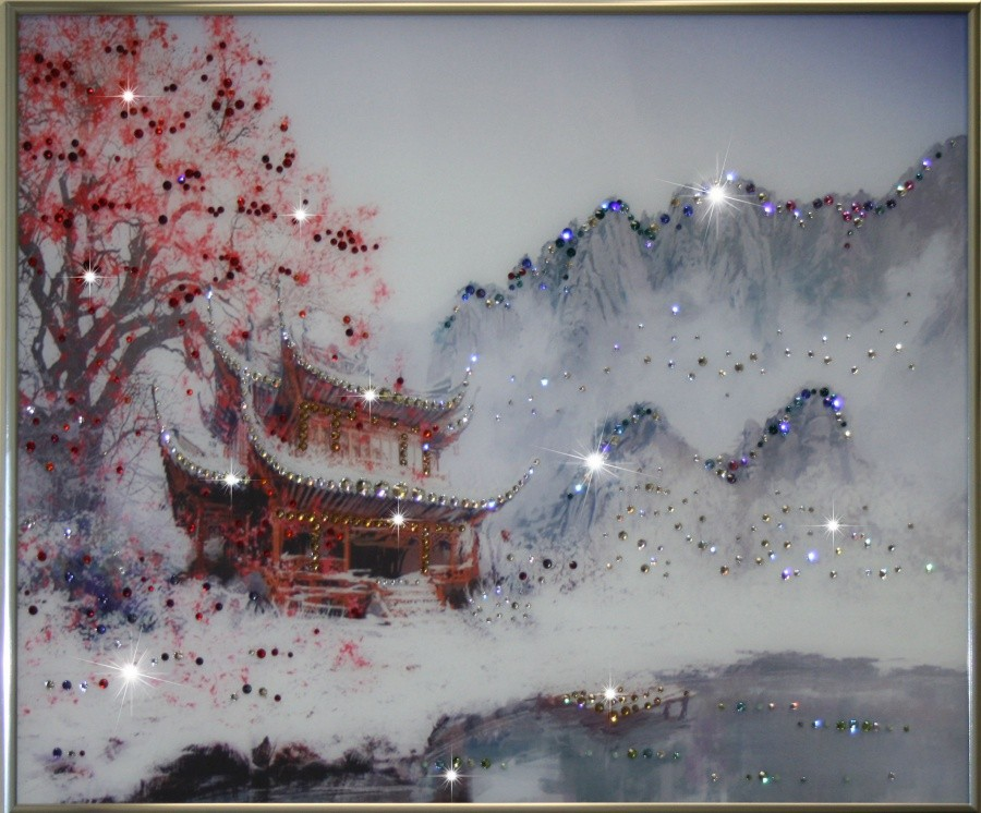 Картина с кристаллами Swarovski Зимний Восток